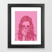 Skull Girl 1 Framed Art Print