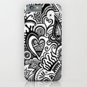 Hearty Arty Doodle iPhone & iPod Case