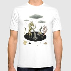 Shifting Tide Pool White SMALL Mens Fitted Tee