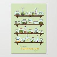 Kristina's Terrarium Type Canvas Print