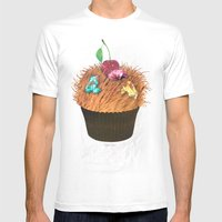 Hairy Cupcake Mens Fitted Tee White SMALL