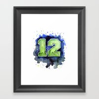 12th Man Seahawks Seattl… Framed Art Print