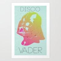 Disco Vader Art Print