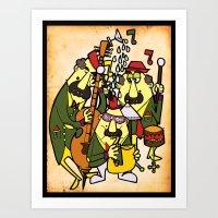 Trio Swing Art Print