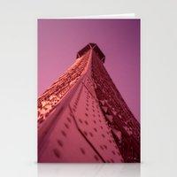 Purple Eiffel  Stationery Cards
