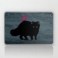 Cat and bird friends! Laptop & iPad Skin