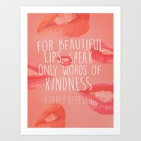 beautiful lips Art Print