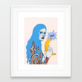 Framed Art Print - Pow Pow - Natalie Foss