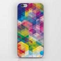 Cuben Curved #7 iPhone & iPod Skin