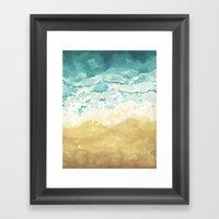 Minimalist Shore - Beach… Framed Art Print