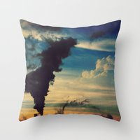 Southside Chicago Factory Throw Pillow