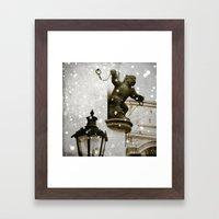 Prague  Gargoyle Framed Art Print
