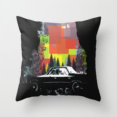 Car In The Dark Throw Pillow