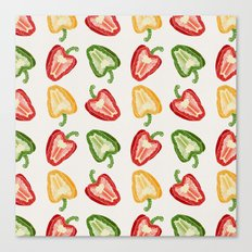 Mixed Peppers Pattern Canvas Print