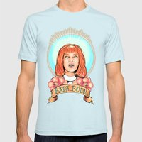 St. Leeloo of the Big Bada Boom Mens Fitted Tee Light Blue SMALL