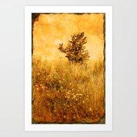 Old Picture of Landscape Art Print