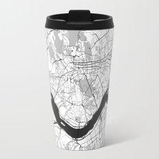 Seoul Map Gray Travel Mug
