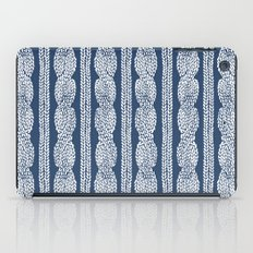 Cable Knit Navy iPad Case
