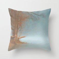 Misty River Throw Pillow