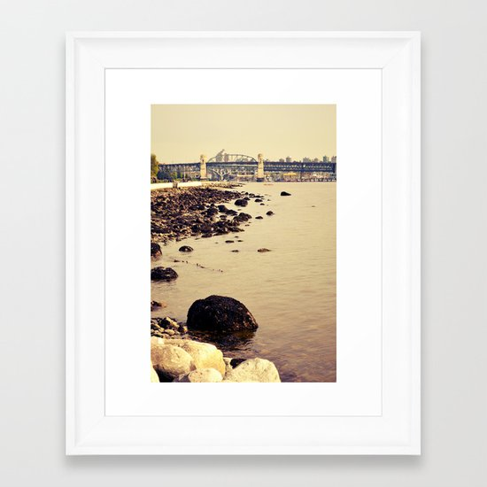 rocks to burrard Framed Art Print
