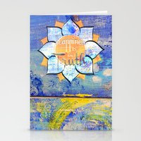 Happy Lotus Stationery Cards