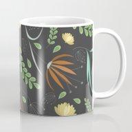 Floral Grey Pattern Mug