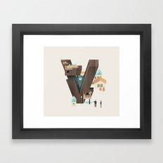 Resort Type - Letter V Framed Art Print