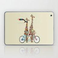 Laptop & iPad Skin featuring Giraffe Days Lets Tandem by Bri.buckley