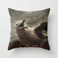 Tom Feiler Seagull Throw Pillow