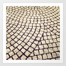 cobblestone pathway Art Print