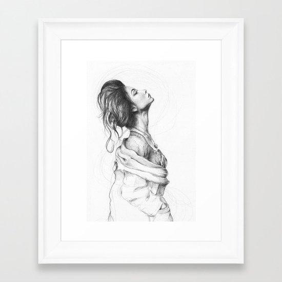Pretty Lady Illustration Framed Art Print