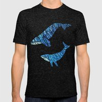 Two Whales Mens Fitted Tee Tri-Black SMALL