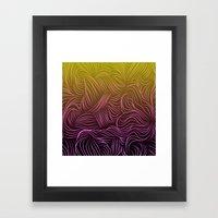 Ombre Hair Design Framed Art Print