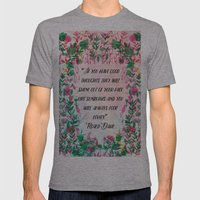 Roald Dahl Mens Fitted Tee Athletic Grey SMALL