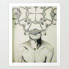 Bike Man Art Print