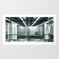 Behind The Glass Art Print