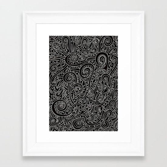 - burnt - Framed Art Print