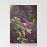 purple flower. Stationery Cards