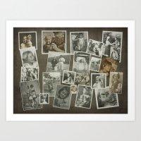 CHILDHOOD MEMORIES COLLA… Art Print