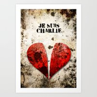 Je Suis Charlie Graphic Art Print