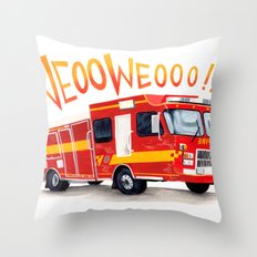 VROOOM Throw Pillow