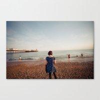 Staring At The Sea Canvas Print