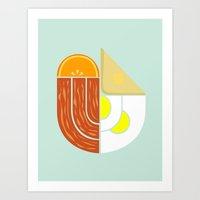 Breakfast Crest Art Print