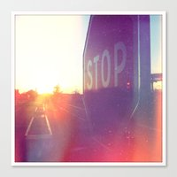 Canvas Print featuring Stop by SABOTAGE