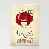 Café c'est la vie - Paris Stationery Cards