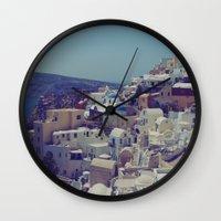 Oia, Santorini, Greece I… Wall Clock