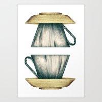 Cup Side Down Art Print