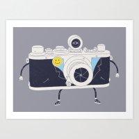 Old Skool Cam Art Print
