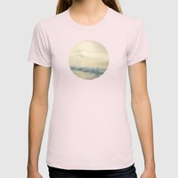 Salty Kisses Womens Fitted Tee Light Pink SMALL