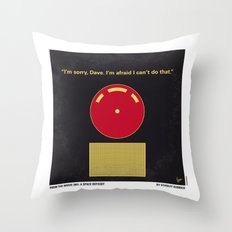 No003 My 2001 A space odyssey 2000 minimal movie poster Throw Pillow